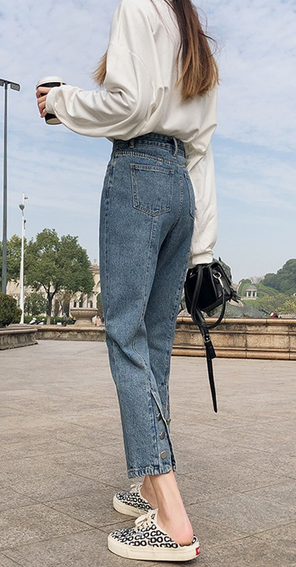 Back Button End Denim on sale at EzBuy's Fashion Collection Sale